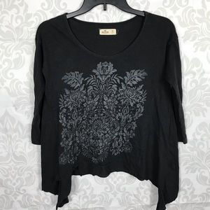 ❤️ 3/$20 Hollister Black Gray Floral Top Size XS